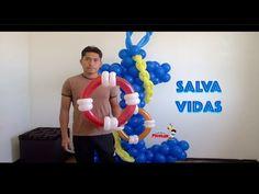 Marine helm (steering wheel) of balloons - twisting tutorial (Subtitles) - YouTube