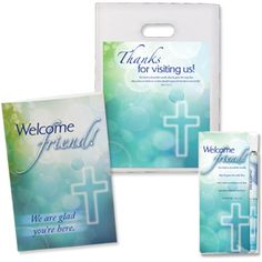 Church Visitor Welcome Pack-Bookmark,Brochure Bag,Holder-CTA Inc