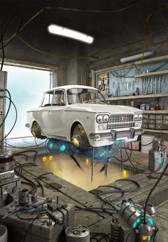 [image] Title: FLYING FIAT 1500 Name: Carmine Napolitano Country: Italy Software: Maya VRay Photoshop Submitted: October 2014 This model is based on Alejandro Burdisio's concept. Made with Maya and vray. Zbrush, Motion Design, 3d Cinema, Arte Cyberpunk, Fiat Panda, Modelos 3d, Cg Art, Environment Concept, Steampunk