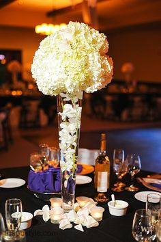 Simple & Elegant Centerpieces http://www.wienscellars.com/temecula-wedding/