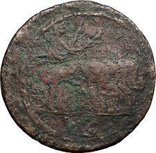 TRAJAN in Chariot of Elephants 111AD Alexandria Egypt Drachm Roman Coin i56363 https://trustedmedievalcoins.wordpress.com/2016/06/30/trajan-in-chariot-of-elephants-111ad-alexandria-egypt-drachm-roman-coin-i56363/