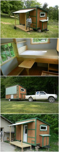 This 8' x 14' Off Grid Cabin is a Tiny House Dream Come True - Can you imagine living in just 112 square feet of space?  It might sound cramped until you see the Off Grid Cabin designed by Yahini Homes.  This adorable little tiny house makes it easy to imagine living comfortably in a really small space.  Let's take a look!