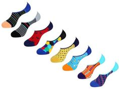 No Show Socks Value Pack by Unsimply Stitched fun colorful designs Combed Cotton Nylon Spandex Shark Socks, Mens Novelty Socks, No Show Socks, Your Style, Stitch, Ss, Collection, Fashion, Moda
