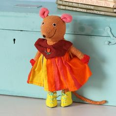 girl mouse fairly-traded soft toy - medium by barefoot