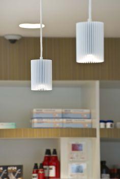 COOLFIN('s) #DARK    suspended white #LED   architecturallighting   LINDEPHAR <<<   concept apotheek   project Ertvelde BE