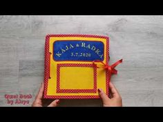 Wedding Quiet Book #29 for Kája and Radka (without felt!) - YouTube Lunch Box, Felt, Children, Books, Youtube, Wedding, Young Children, Valentines Day Weddings, Felting