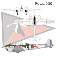 The Potez 630 and its derivatives were a family of twin-engined aircraft developed for the French Air Force in the late 1930s. The design was a contemporary of the British Bristol Blenheim (which was larger and designed purely as a bomber) and the German Messerschmitt Bf 110 (which was designed purely as a fighter).