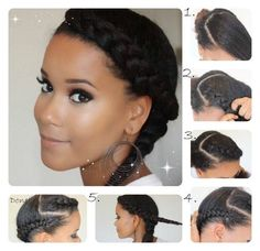 Protective hairstyle pictorial / braids; natural hair