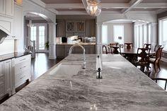 Super White Quartzite. Kitchen Countertop Ideas. #SuperWhiteQuartzite #KitchenCountertopIdeas