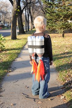 rocket backpack. For all the times we play superheroes with cup towels! New accessories!!
