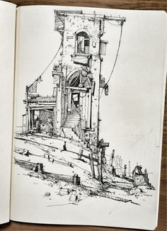Ian McQue on Twitter: Sketchbook: 'Wharf' http://t.co/kbtNy5nd1F