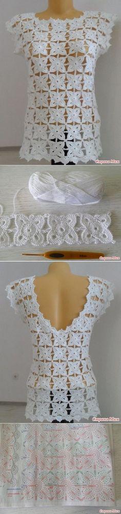 Crochet Net Top Free Crochet Pattern