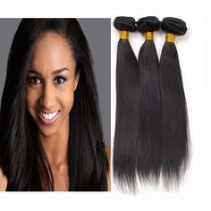 Unprocessed Brazilian Virgin Hair Straight 100% Real Remy Malaysian Human Hair Extensions Silky Straight  //Price: $US $47.40 & FREE Shipping //     #fashion #women #wig #wigs #hair #blond #darkhair #beauty #style Real Hair Extensions, Womens Wigs, Wigs For Black Women, Beauty Style, Virgin Hair, Dark Hair, Straight Hairstyles, Blond, Fashion Women
