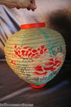 Vintage 50s Japanese Paper Lanterns Accordion Style