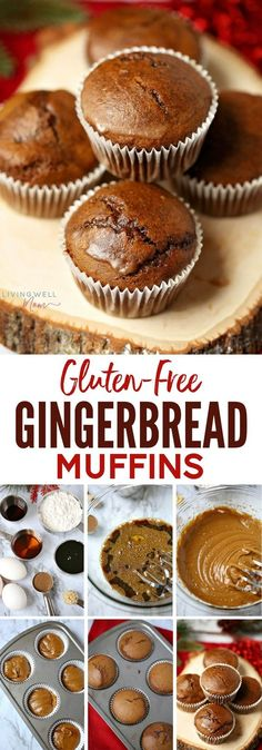 Packed with gingerbread spices, this Gluten-Free Gingerbread Muffins recipe is quick and easy to make and will quickly become a favorite with the whole family. The light coconut butter glaze adds a delicious finishing touch, though these muffins are delicious without the glaze. Dairy-free, gluten-free, refined sugar free.