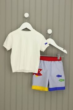 Eiseman 2T Fish/Shark Embroirdered Swimwear Set. #JosiesFriends