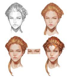 ArtStation - face tutorial, KD_kingdom Kang