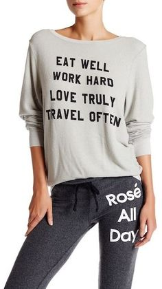 Wildfox Couture Mantra Baggy Beach Jumper