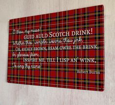 Scotch Drink Robert Burns night poem quote scottish by artylicious