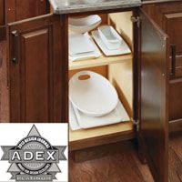 Diamond® Cabinets was recently recognized with a Platinum Award for Design Excellence (ADEX) for its Door-on-End Cabinet. Introduced in 2012, it features a new functional end modification that makes it possible to access the cabinet interior from the front as well as the side, providing a creative solution for center islands or additional end-run cabinet access.