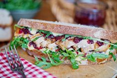 Ballymaloe Cranberry Sauce is great at any time of year. Mixed with Ballymaloe Mayo, our cranberry sauce is perfect in sandwiches.  #sandwich #chicken #mayonnaise #cranberry #cranberrysauce #rocket #salad #irish Cranberry Mayo, Cranberry Sauce, Roast Chicken, Grilled Chicken, Chicken Sandwich, Mayonnaise, New Recipes, Slow Cooker, Grilling