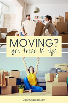 Are you moving? Here are 10 tips that you don't want to miss! #moving #movingtips #movinghouse Recipe Organization, Paper Organization, Life Organization, Moving Home, Moving Tips, Home Management, Time Management Tips, Life Hacks Shopping, Organizing For A Move