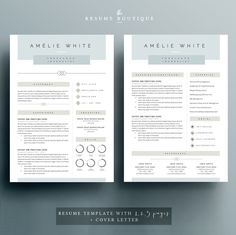 Resume Template 4 pages CV Template Cover Letter for MS Resume Skills, Resume Tips, Free Resume, Resume Layout, Resume Ideas, Resume Design Template, Cv Template, Resume Templates, Graphic Design Resume