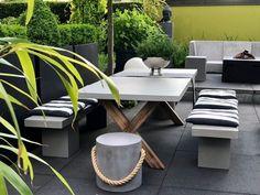 Der Tisch Square 220 Ist Ein Moderner Esstisch Oder Gartentisch Aus  Fiberstone In Betonoptik Mit Einem
