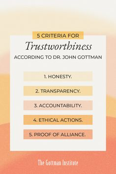 """How do you know if you can trust someone? Dating can feel intimidating and overwhelming, especially if you haven't dated in a while. Having a sense of who you can trust is an important step towards enjoying yourself and meeting the right person.  Discover therapist-approved tips for """"getting back out there"""" and learn five indicators of trustworthiness on our Gottman Relationship Blog. Gottman Institute, John Gottman, Relationship Blogs, I Trusted You, After Break Up, Honesty, Trust Yourself, Did You Know, True Love"""