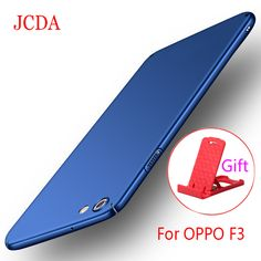 OPPO F3 Case For OPPO F3 360 Cover Luxury Silm PC Plastic Matte PC Hard Back Phone Cover For OPPO F3 Case+Glass Screen Protector