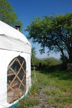 The Yurt Farm, Ceredigion, Wales. The Yurt Farm is a small eco friendly glamping site on our organic family farm in West Wales http://www.organicholidays.com/at/2481.htm