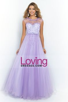2015 Prom Dress Scoop A Line/Princess Open Back Tulle With Beads