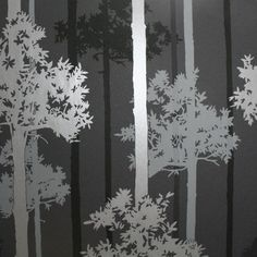 Nottingham Black and Silver Wallpaper, , large
