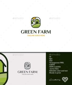 Green Farm Logo Template PSD, Transparent PNG, Vector EPS, AI Illustrator