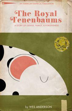 The Royal Tenenbaums (2001) ~ Minimal Movie Poster by Trevor Dunt #amusementphile