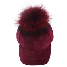 Ruby Velvet Fur Pom Hat ( 30) ❤ liked on Polyvore featuring accessories b7442e72db83