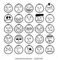 Set of hand-drawn funny cartoon faces. Set of hand-drawn funny cartoon faces. Set of hand-drawn funny cartoon faces. Set of hand-drawn funny cartoon faces. Cartoon Faces Expressions, Funny Cartoon Faces, Cartoon Eyes, Facial Expressions, Funny Cartoons, Cartoon People, Doodle Drawings, Cartoon Drawings, Easy Drawings