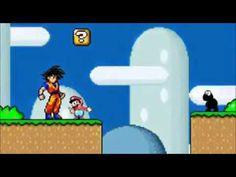 Goku ensinado  um geito mais fácil pro super mário