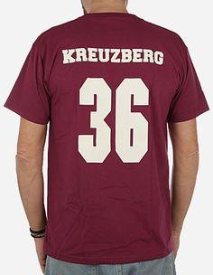 Depot2 Berlin - Original Kreuzberg 36 T-Shirt burgundy creme