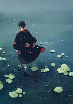 Sasuke in the Akatsuki Anime Naruto, Manga Anime, Fanarts Anime, Naruto Shippuden Anime, Naruto Art, Naruto And Sasuke, Itachi Uchiha, Boruto, Mangekyou Sharingan