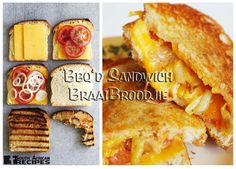 South African Recipes BRAAIBROODJIE (BARBEQUED SANDWICH) (with Tips, Other Fillings & a Gourmet version)
