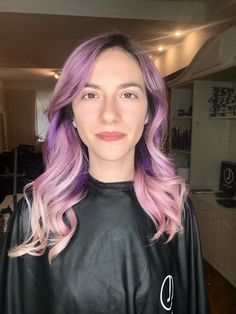 #purple #hair #unicornhair #wavy #lavander #jbeverlyhills #yourbeautymasters