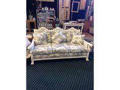 white frame jacobean lounge - Google Search