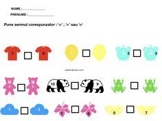 Compararea numerelor. 6 fise, completate si necompletate. – Catalina Bîrsan Map, Blog, Location Map, Blogging, Maps