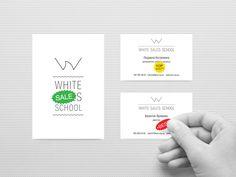 """White Sales School"" by Korolivski Mitci: Bronze Winner - Logo Design Category - Monthly Design Award January 2013 Winner, Design Awards, Logo Design, Bronze, School"