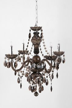 OMG, look at it in black glass!!!!!  Duchess Chandelier  #urbanoutfitters