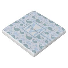 Shop Cute Blue Whales Pattern Monogram Stone Coaster created by ironydesigns. Whale Pattern, Stone Coasters, Custom Coasters, Blue Whale, Travertine, Hostess Gifts, House Warming, Backdrops, Outdoor Blanket
