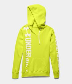 Women's Under Armour Cotton Fleece Branded Wordmark Hoodie. Relaxed fit. So comfy you'll want to live in it.