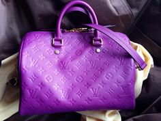 Louis Vuitton Empreinte Speedy 30 in lovely Amethyst a limited edition seasonal color