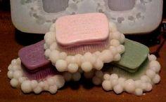 Scrubby Bubbles Small Soap 1 Cavity Silicone Mold 5095